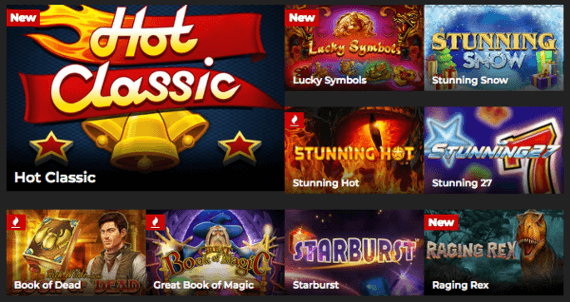 energy casino games and providers